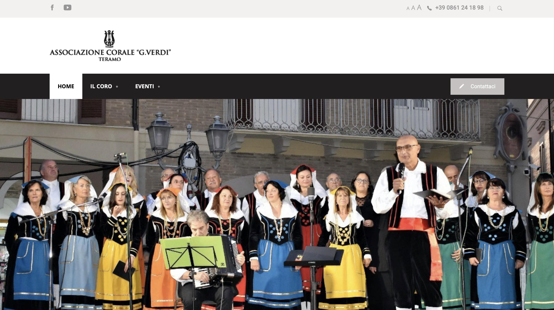 Sito web Coro Verdi